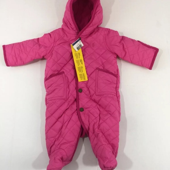 3250ee5c3 Ralph Lauren Jackets & Coats | Hot Pink Baby Girl Snowsuit 6 Months ...